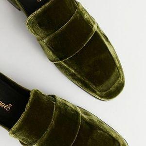 Free People Velvet At Ease Loafer Emerald